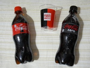 コーラとコーラゼロ