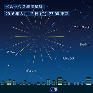 ペルセウス座流星群イメージ