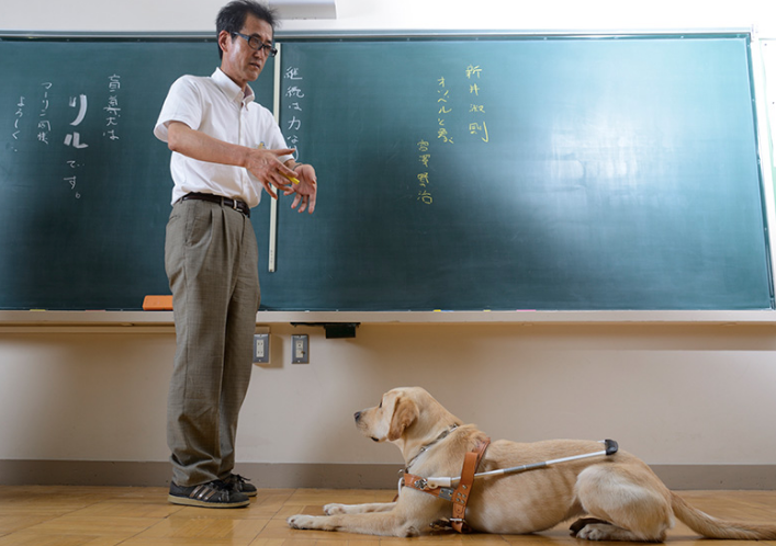 新井淑則_/_中学校教師 全盲の教師が挑む新たな戦い[前編]___WAVE_